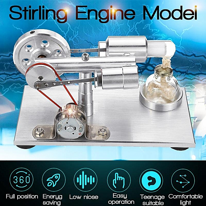 UNIVERSAL Hot Air Stirling Engine Model Power Generator Motor Educational Steam Toy Kit à prix pas cher