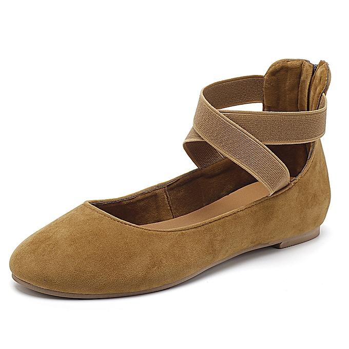 Fashion femmes Casual Suede Flats Cross chaussures à prix pas cher    Jumia Maroc