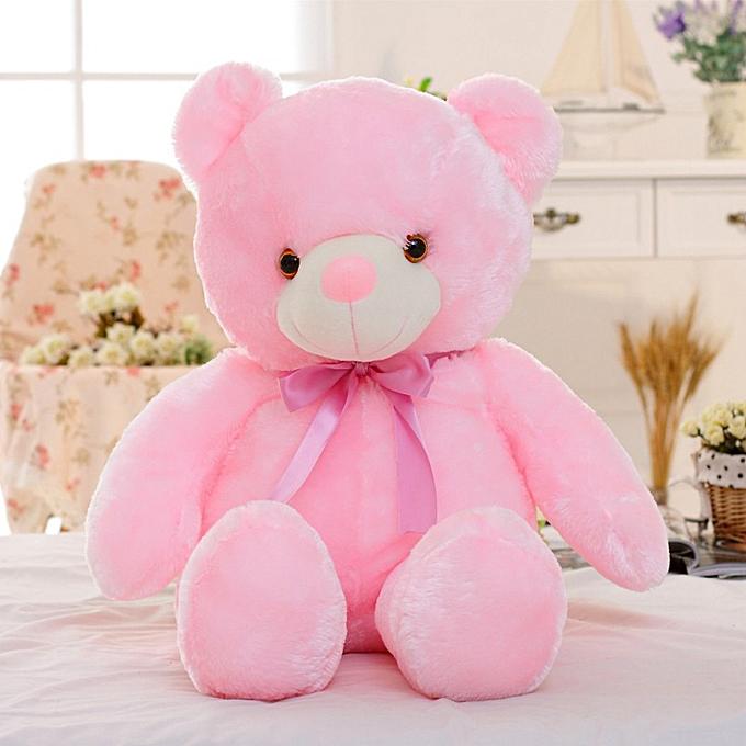 Autre Luminous LED lumière Bear Stuffed Plush Toy Soft lumièreing PilFaible Cushion Enfants Girls Gift Music Play rose à prix pas cher