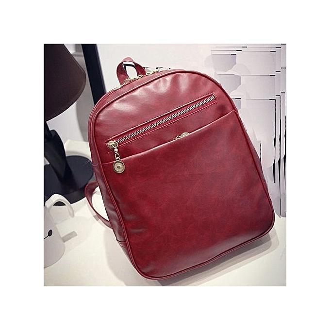 Generic Wohommes cuir voyage Satchel mode Shoulder sac sac à dos School sac à dos WE à prix pas cher