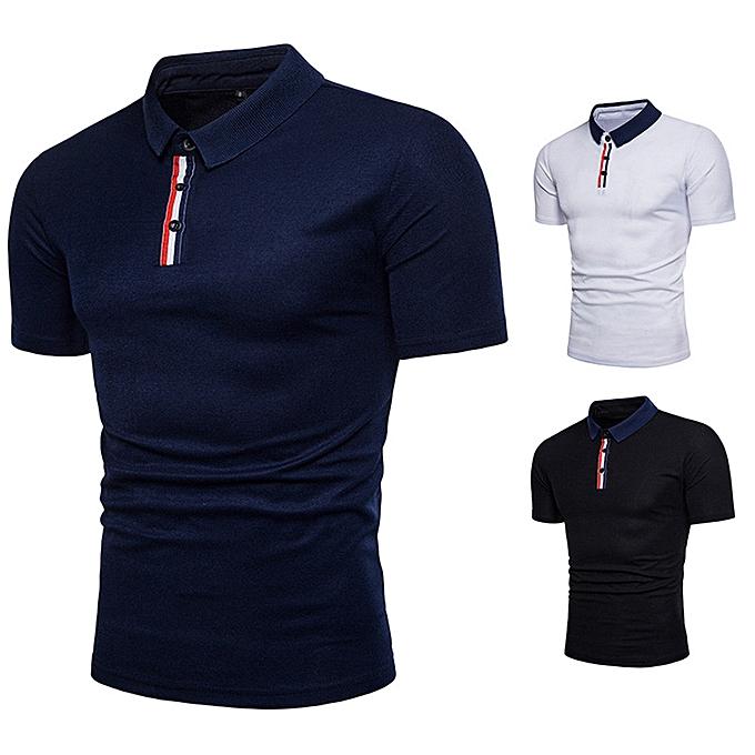 mode mode Personality Hommes& 039;s été Décontracté Slim manche courte T Shirt Top chemisier à prix pas cher