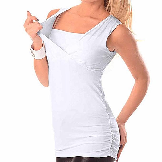 Generic Generic été femmes V-neck Vest High Waist Long Maternity Top A1 à prix pas cher