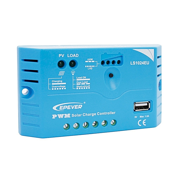 Other EPsolar PWM controller LS1024EU 10A 12V 24V EPEVER PWM Landstar Solar Charge Controller built in 5V 1.2A USB terminal output à prix pas cher