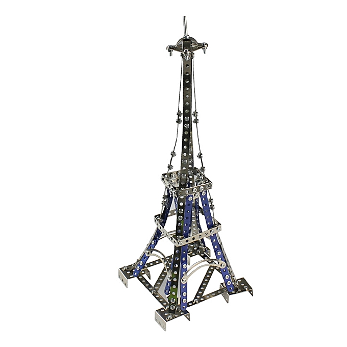 UNIVERSAL MoFun 3D Metal Puzzle The Eiffel Tower Model Building Stainless Steel Harley Motorcycle 352PCS- à prix pas cher