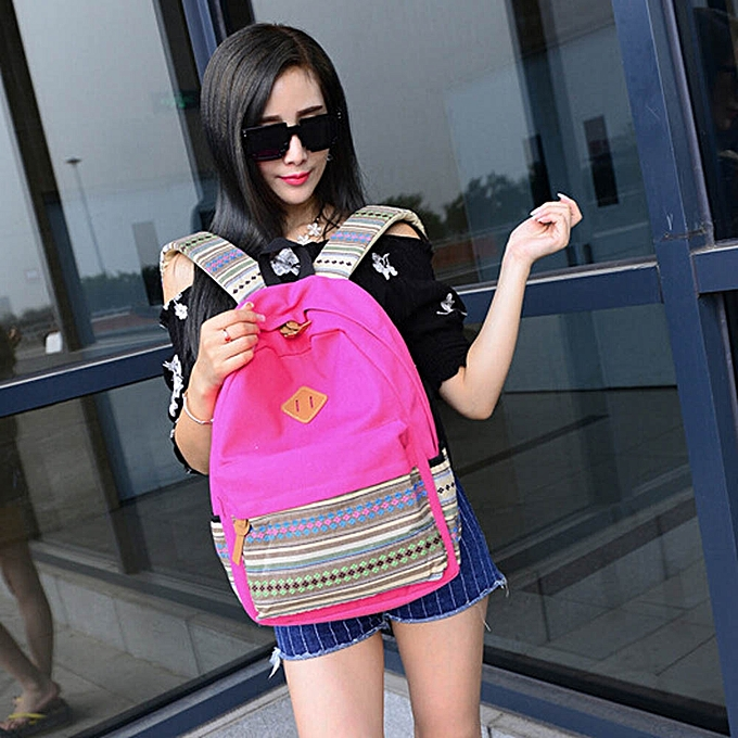 Generic Boys Girls Rucksack Shoulder Bookbags School Bag Satchel Travel Canvas Backpack à prix pas cher