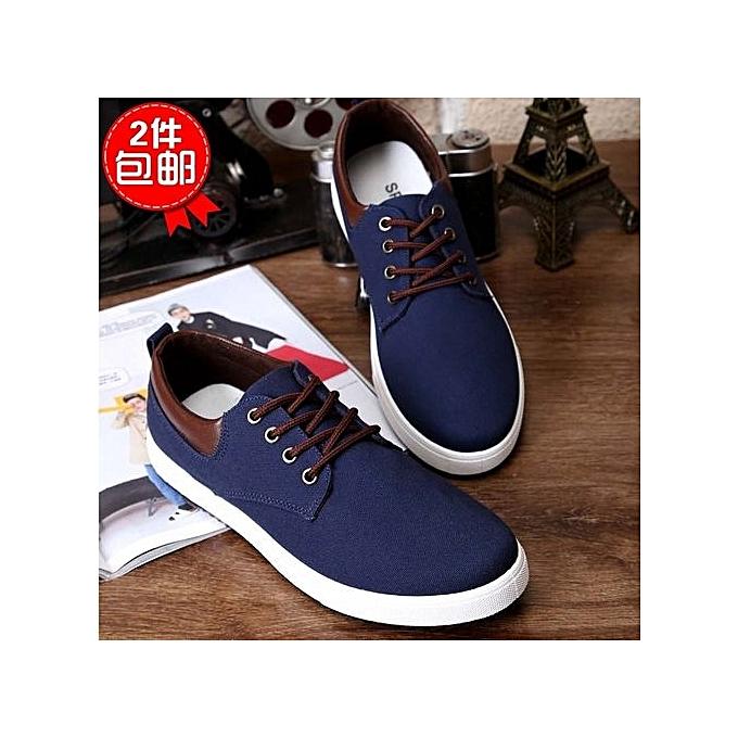 Générique  s Casual Shoes Man Flats Breathable    s Fashion Classic Shoes  s Canvas Shoes-Bleu  à prix pas cher  | Jumia Maroc e09f47