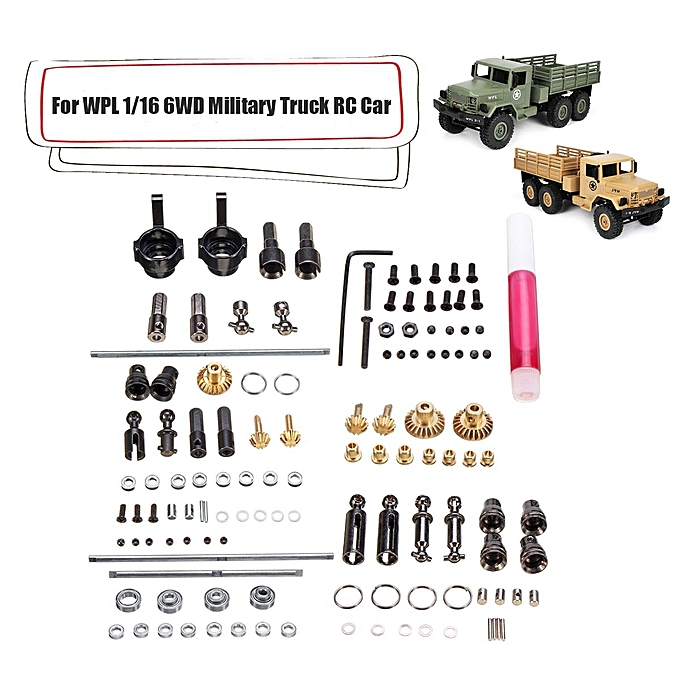 UNIVERSAL Upgrade Metal OP Accessory Set DIY Parts For WPL 1 16 6WD RC voiture Military Truck à prix pas cher