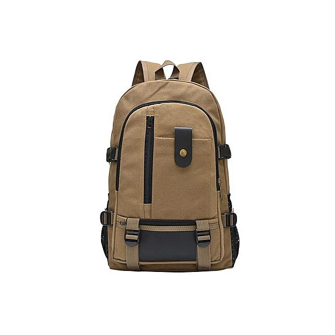 Generic Tectores mode Accessories grand capacité sac à dos Leisure voyage Solid Couleur toile sac à dos Student sacKH à prix pas cher