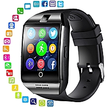 027e0e549 Bluetooth Smart Watch Men Q18 With Touch Screen Big Battery Support TF Sim  Card Camera for
