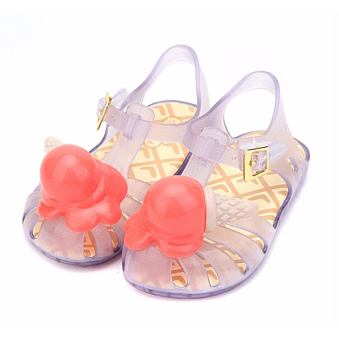 Fashion Princess Ice Cream Jelly Kids Girl Summer Sandals Sole Soft Casual Water chaussures à prix pas cher    Jumia Maroc