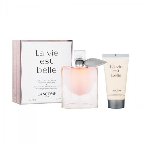 lanc me la vie est belle coffret eau de parfum 50ml lait de parfum nutritif 50ml acheter. Black Bedroom Furniture Sets. Home Design Ideas