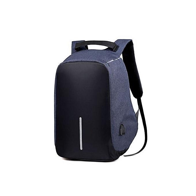 Duoya Men Portable Backpack Computer Bag School Backpacks Business Travel Bags BU-bleu à prix pas cher
