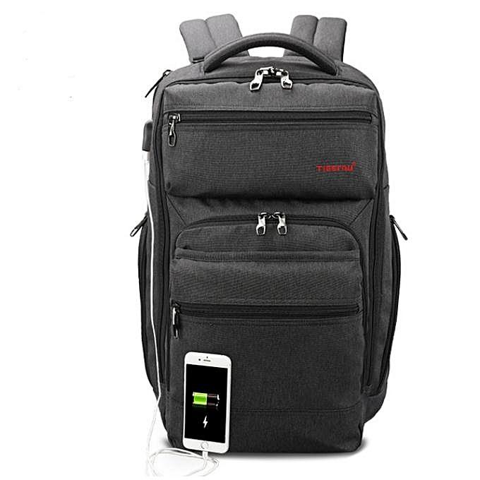 OEM Refined Anti Theft Hommes mode USB Charger 15.6inch Laptop sac sac à doss voyage Décontracté Schoolsac For Boy noir à prix pas cher