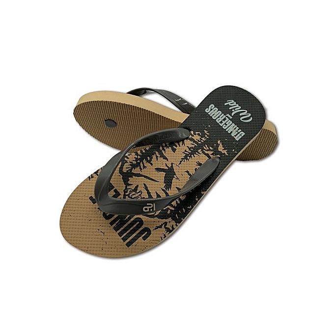 mode été nouveau Hommes Flip-flops Wear Non-slip Rubber Sandals plage chaussures à prix pas cher