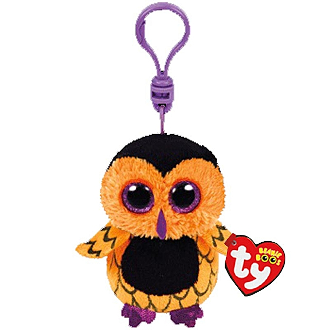 Autre Ty Beanie Boos Screech the Orange Owl Pendant Plush Toy Clip Stuffed Collection Soft Doll Halloween Special With Tag 4  10cm à prix pas cher