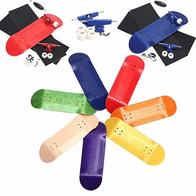 UNIVERSAL 6 Set Basic Complete boisen Fingerboard Finger Scooter with Beabague Grit Box Foam Tape vert à prix pas cher