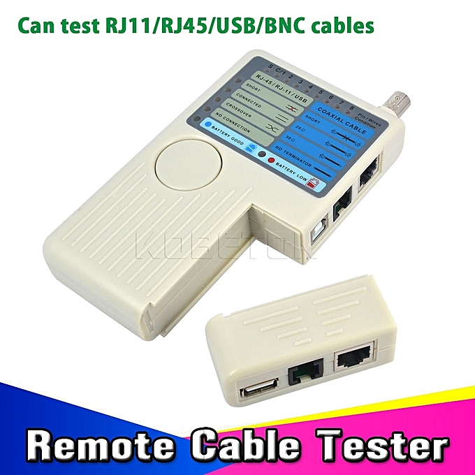 Other 4 Ports in 1 RJ11 RJ45 USB BNC LAN Network Cable Tester meter for UTP STP LAN Cables  Tracer Detector retail or wholesale à prix pas cher