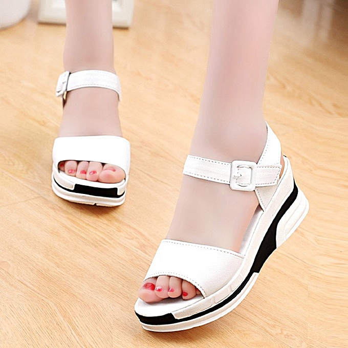 Générique Tcetoctre WoHommes 's Summer Sandals Shoes Peep-toe Peep-toe Peep-toe Low Shoes Roman Sandals   Flip Flops- White à prix pas cher    Jumia Maroc 65275e