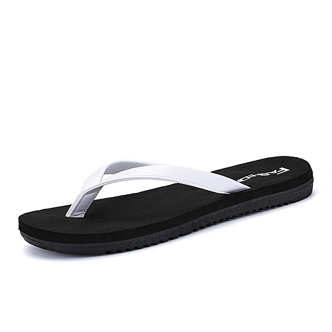 Fashion Men and femmes couples pinch beach casual flip-flops - noir&blanc à prix pas cher    Jumia Maroc