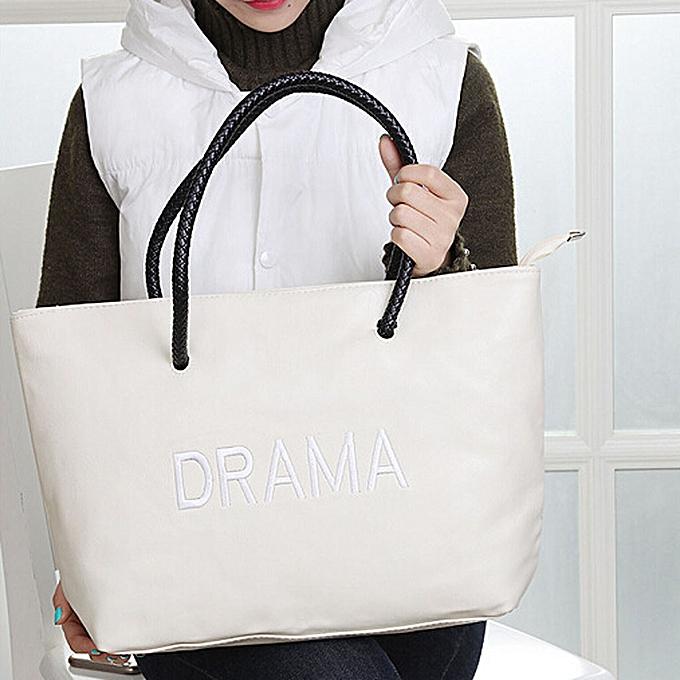 Siketu Fashion femmes Leather Handbag Crossbody Shoulder Messenger Phone Coin Bag- Beige à prix pas cher