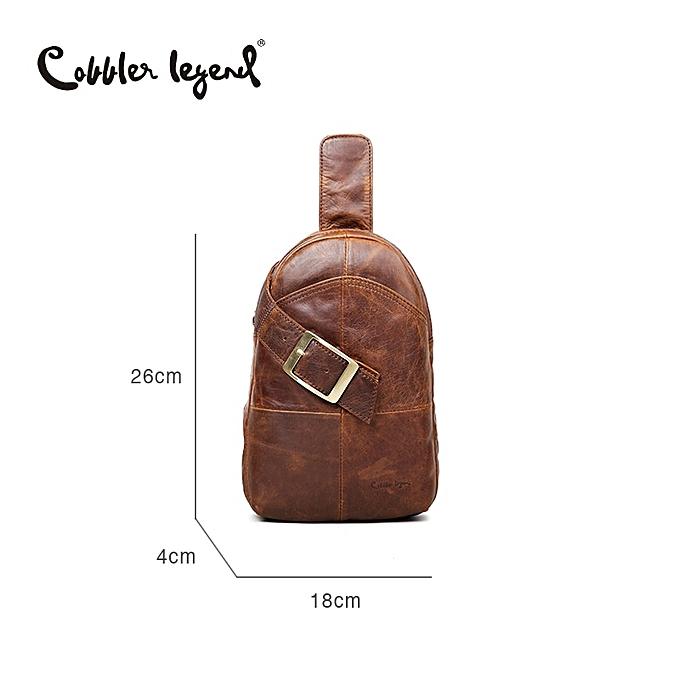 Other Cobbler Legend   Leather Chest Pack Brand Designer Casual Men's Messenger Bags Small Shoulder Bags bolsos For Men(Coffee) à prix pas cher
