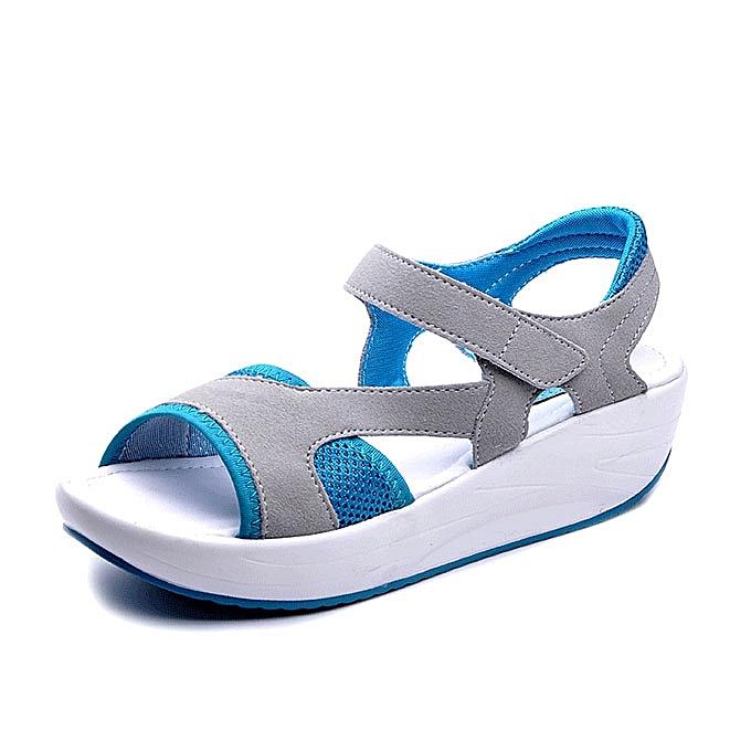 Fashion femmes Casual Wedge Sandals Breathable Rocker Sole chaussures à prix pas cher