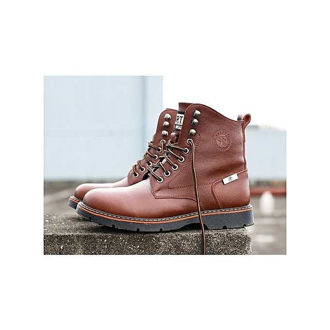Fashion 2018 Fall New  's 's  Casual Martin Boots  's Velvet Mid-upper Boots European And American  's Shoes Fashion Army Boots à prix pas cher  | Jumia Maroc 59ac30