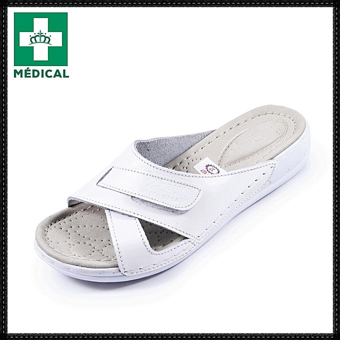 Médical médical À sandale tendance sandalessandales Femme Talon Médical 2019Blanc Sandales LAR4j5