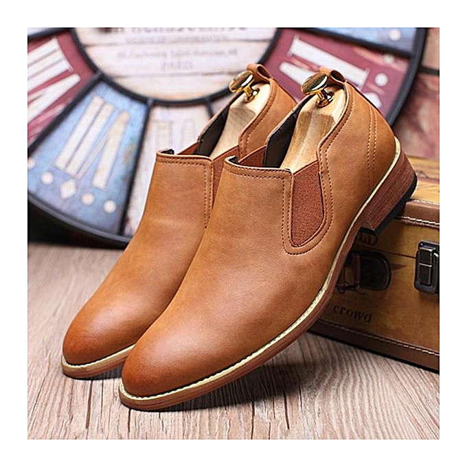 Fashion Fashion   Pointed Toe Toe Toe Cow Leather Low-top Casual Ankle Boots-EU à prix pas cher  | Jumia Maroc c941f4