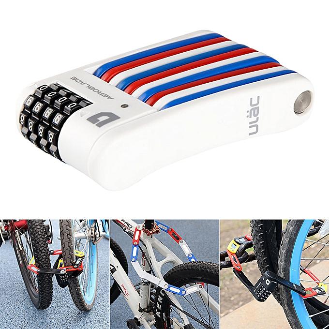 OEM Road Bike Bicycle Motorcycle Security Folding Lock Anti-Theft Mini Password Lock à prix pas cher