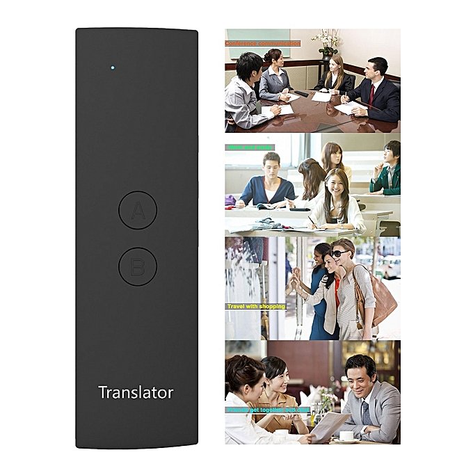 Other Travel Smart Voice Translator Meeting  Fast Accurate  Real Time Simultaneous Handheld Multi-language Learning QLANG à prix pas cher