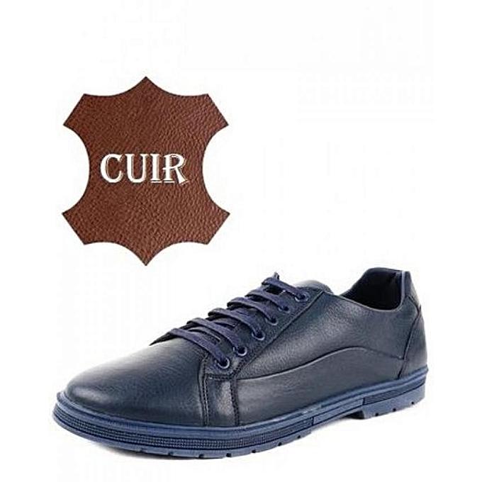 Boliga Chaussures sport en CUIR - Bleu nuit à prix pas cher    Jumia Maroc