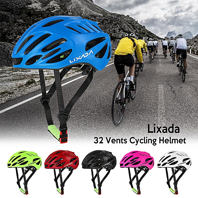 Other Lixada 32 Vents Ultralight Integrally-molded EPS Sports Cycling Helmet with Lining Pad Mountain Bike Bicycle Unisex Adjustable Helmet à prix pas cher