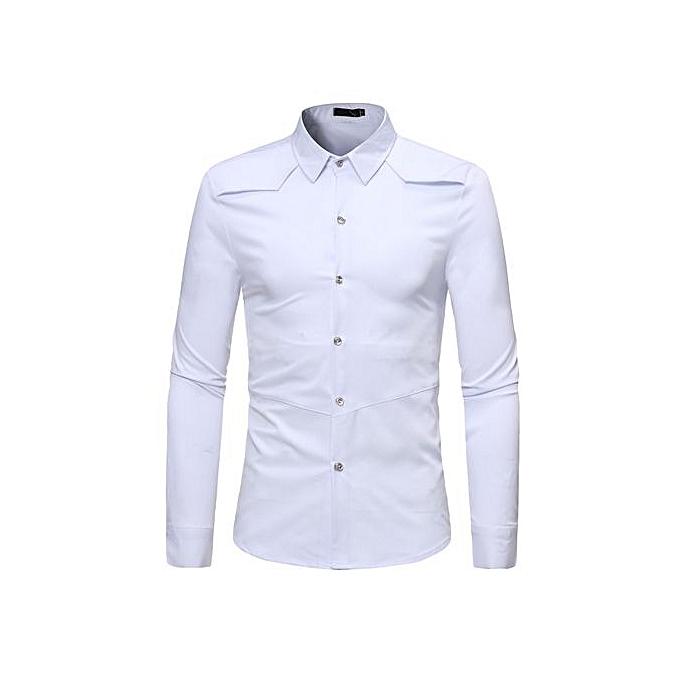 AFankara Business Style Shirts Casual Clothes Dress Shirts-blanc à prix pas cher