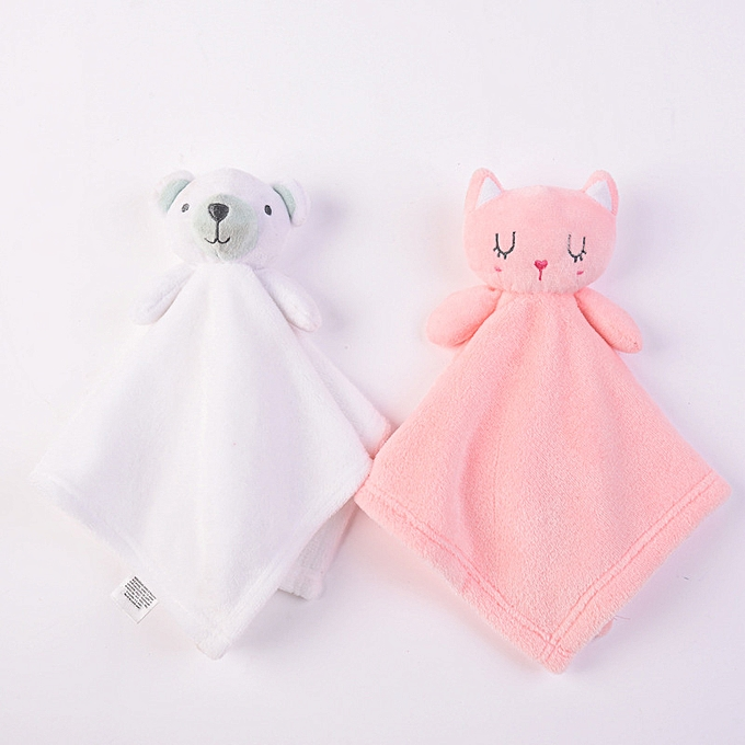 Autre Baby Plush Toys Cartoon Bear Rabbit Soothe Appease Towel For Babys Girls Soft Comfort Towel Appease Dolls Newbrons Sleeping Toys(TH031-blanc bear) à prix pas cher