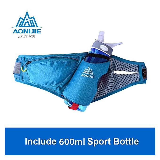 AONIJIE Sports Waist Packs Running Belt Water Belt Fanny Pack Marathon Hydration With Bottle 4 Couleurs(bleu with Bottles) à prix pas cher