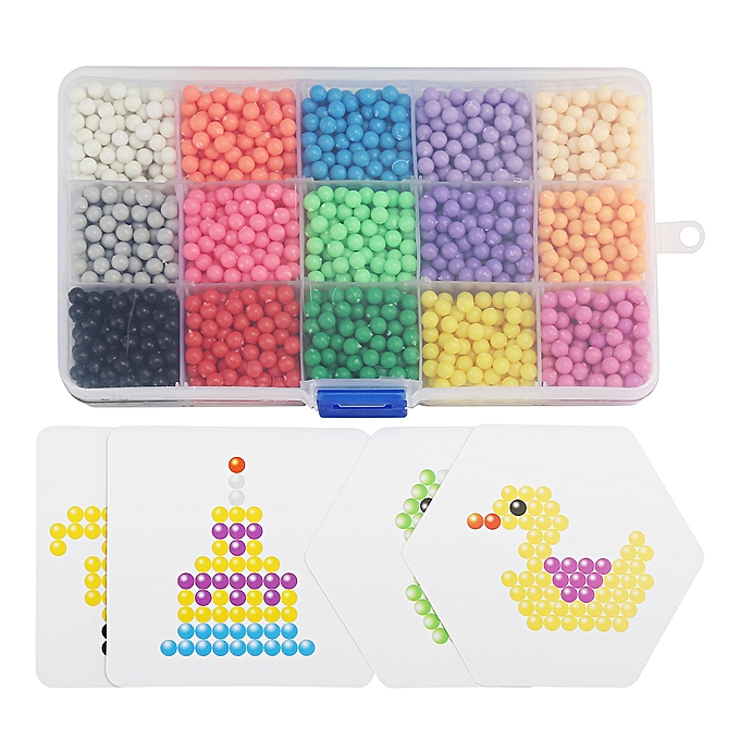 UNIVERSAL 2400PCS Aqua Water Beads Kit MultiCouleur DIY Solid Bead Pack and Jewel Bead Set à prix pas cher