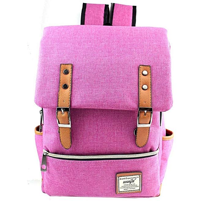 mode Tcetoctre femmes Or Hommes Vintage toile sac à doss School sac à doss High Quality PK- rose à prix pas cher