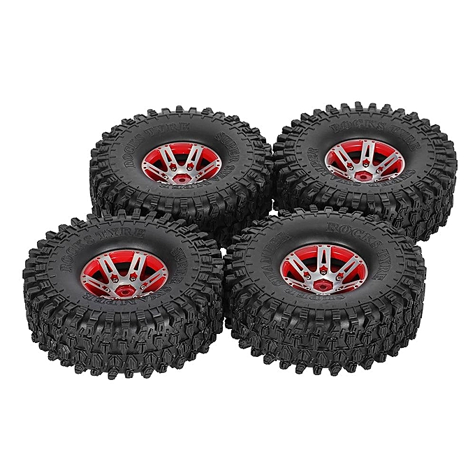 UNIVERSAL 4Pcs AUSTAR AX-5020B 1.9 Inch 1 10 Rock Crawler Tires with Metal Hub for Traxxas SCX10 AXIAL RC voiture à prix pas cher