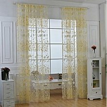 Tulle Window Curtains Fabric Drapes Flower Chiffon Curtains For Living Room  The Bedroom Sheer Curtains
