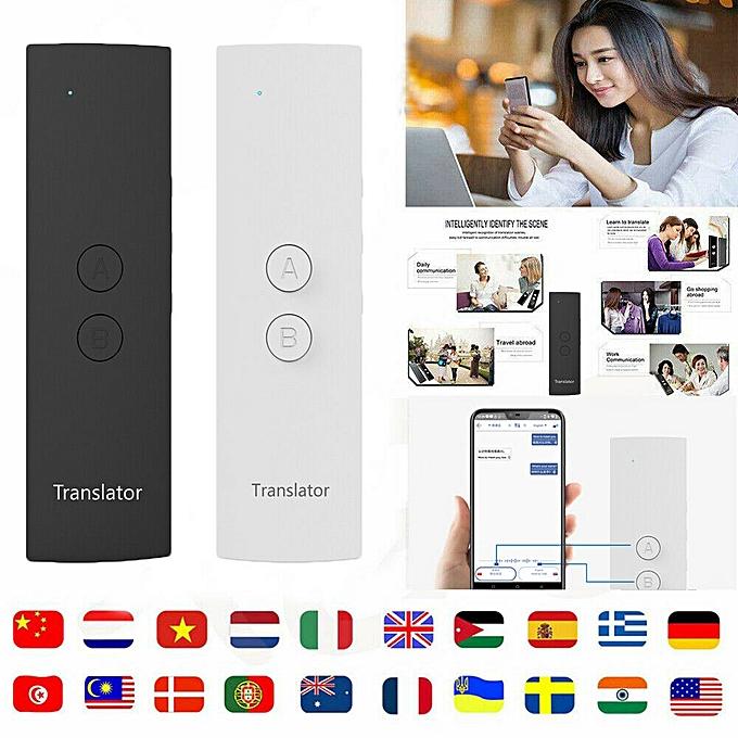 Other Hot 2019 T6 Easy Trans Smart Language Translator Instant Voice Speech BT 28 Languages+APP WOEDA à prix pas cher