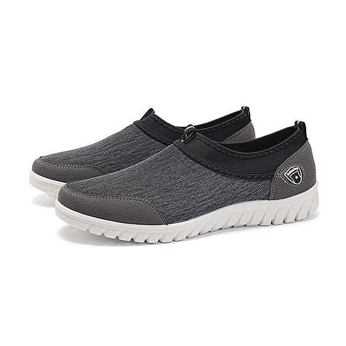 Fashion Fashion Men Large Taille Men Comfy Elastic Slip On Walking baskets-EU à prix pas cher