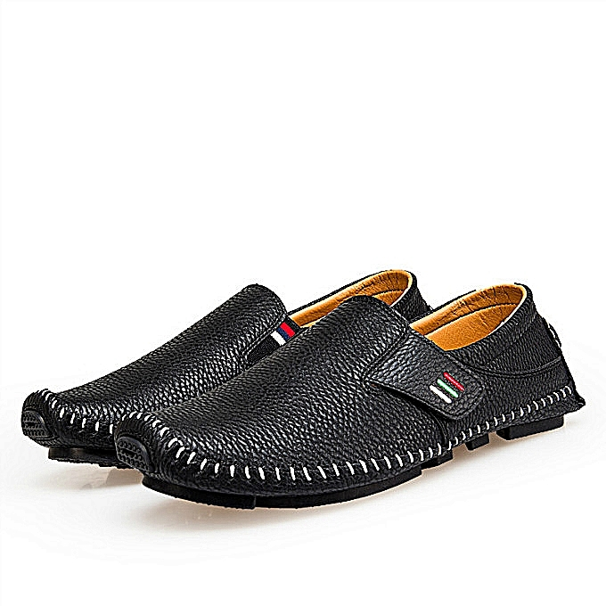 Fashion Men's Breathable chaussures Comfortable Loafers Casual chaussures Loafers— noir à prix pas cher    Jumia Maroc