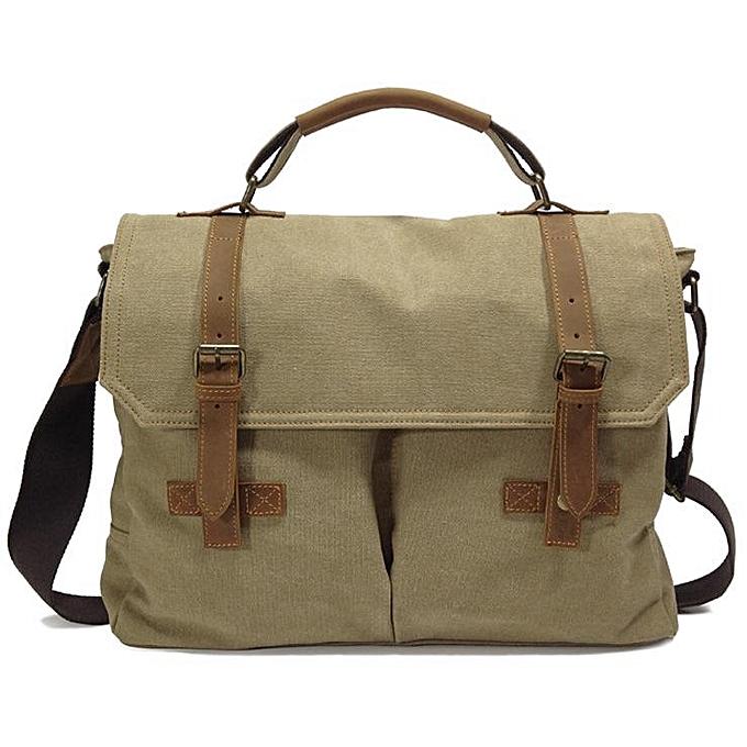 mode Vintage toile Messenger sac Laptop Shoulder sac School sac voyage sac à prix pas cher