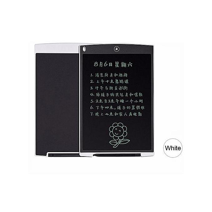 Generic 12  Inch LCD Writing Tablet Digital Drawing Tablet Handwriting Pad Board W  Pen blanc à prix pas cher