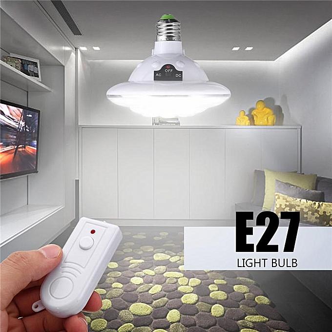 UNIVERSAL 22 LED E27 Outdoor Indoor Solar Lamp Hooking Camp Garden Lighting Remote Control à prix pas cher