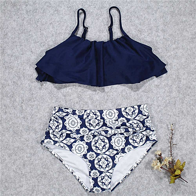 Autre Bikini 2019 femmes High Waist Swimsuit Push Up Plus Taille Swimwear Female Swimming Bathing Suit Beachware Summer Beach Swim Suit(NDL7138-ZLS) à prix pas cher