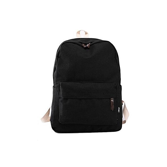 nouveauorldline femmes toile School sac Girl sac à dos voyage sac à dos Shoulder sac BK-noir à prix pas cher