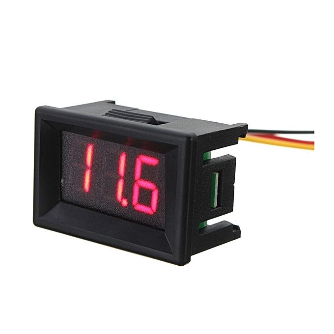 UNIVERSAL 5pcs rouge 0.36 Inch DC 0-30V 3 Wire LED Volt Meterr Digital Display Panel Volt Meterr à prix pas cher