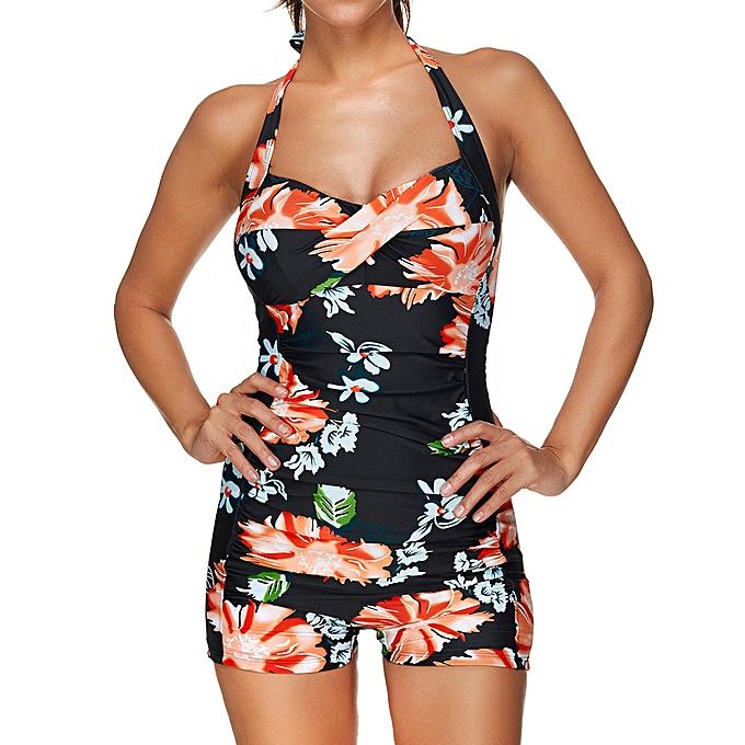 Fashion TCE femmes Plus Taille Swim Costume Padded Swimsuit Monokini Push Up Tankini à prix pas cher
